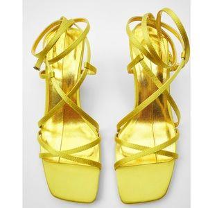 Zara Yellow Heeled Shoes